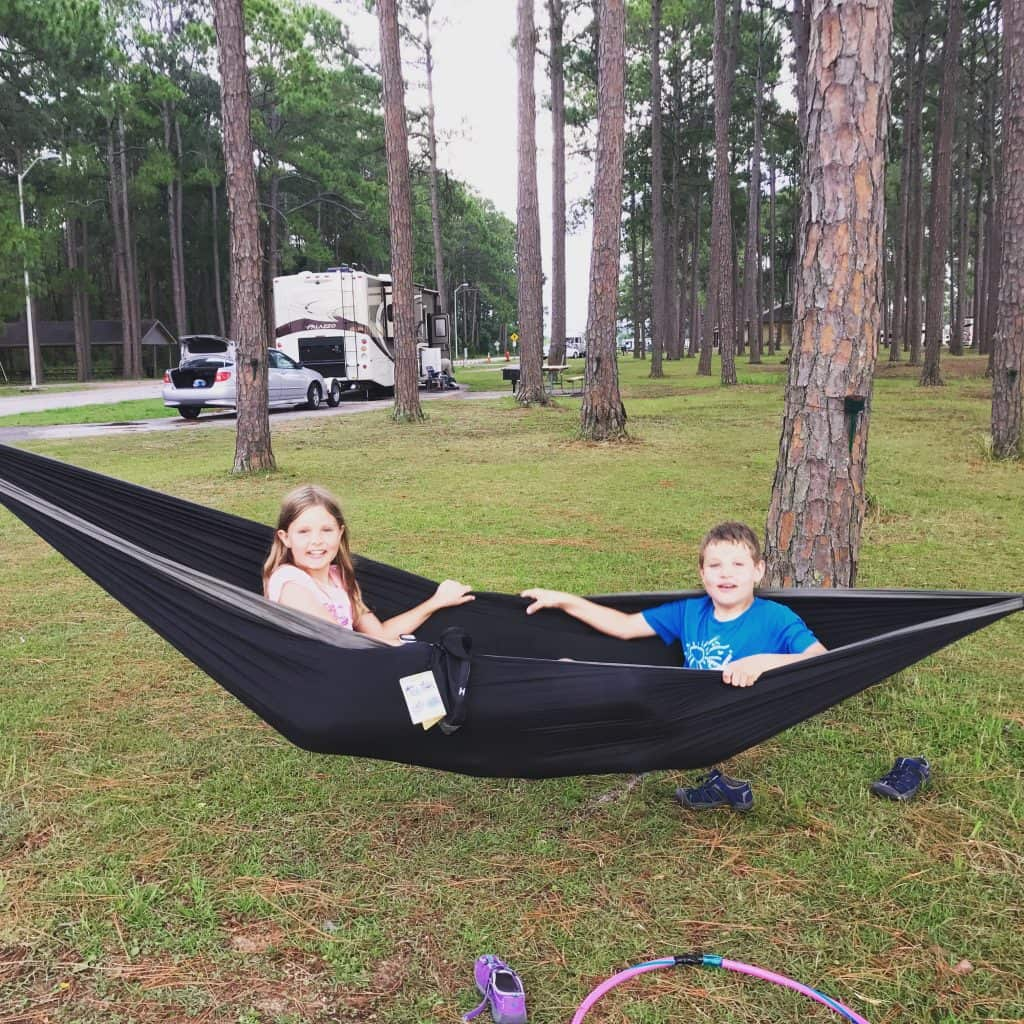 Meaher State Park Campground in Alabama.